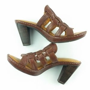 88323168ed61 Born Shoes - Born Women s Sandals Size 7 Brown Woven Slip On